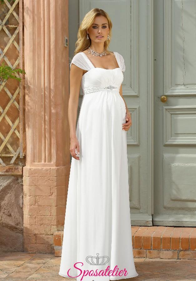 bf6bcc68bad35 abiti da sposa per donna incinta semplice economici onlineSposatelier