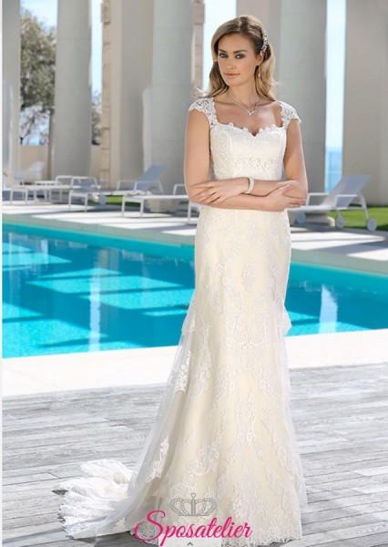 abiti da sposa  mezza sirena con coda tendenze 2018 2019