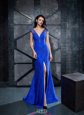 abiti da cerimonia blu reale online economici realizzati su misura