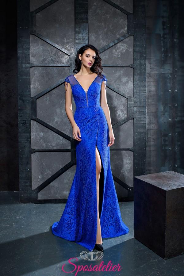 7f7b5f76eb4f abiti da cerimonia blu reale online economici realizzati su misura