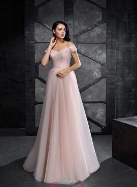 abiti da cerimonia rosa cipria damigella d'onore adulta online economici