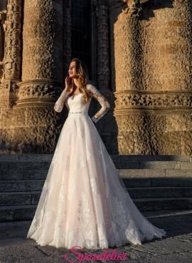 abiti da sposa colorati 2019 avorio rosa da principessa