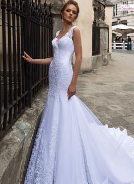 abiti da sposa modello sirena con lungo strascico economico online