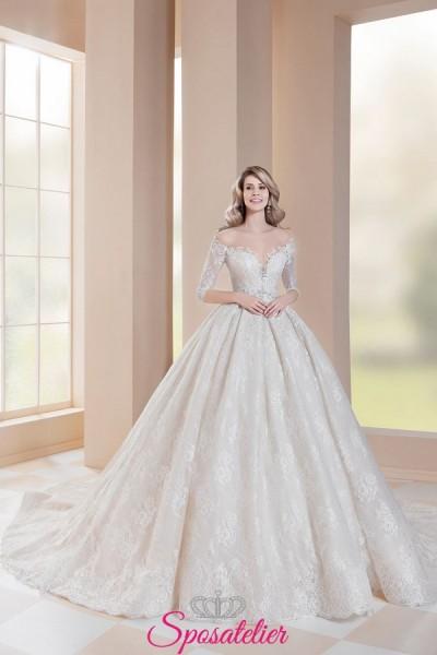 abito da sposa fiabesco con corpetto ricamato e gonna molto ampia