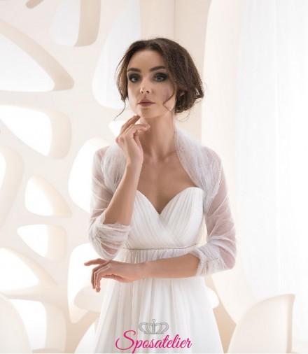 Coprispalle sposa in tulle con glitter  vendita online economico