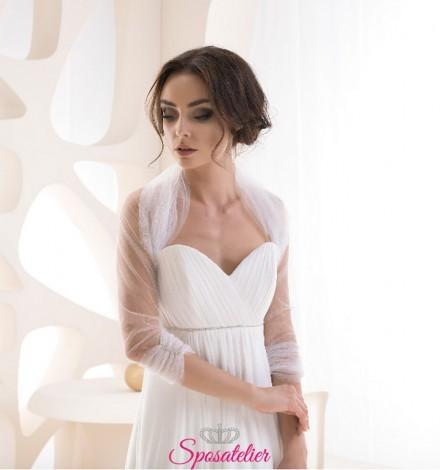 Bolero sposa in tulle con glitter  vendita online economico