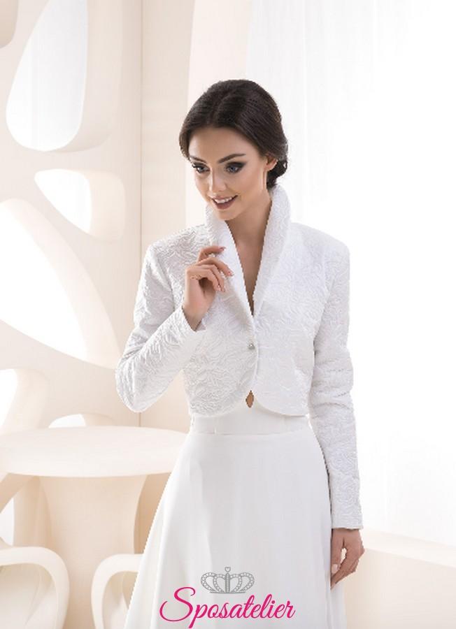 detailed look 7f6ef 8b932 Giacca sposa primavera vendita online collezione 2019