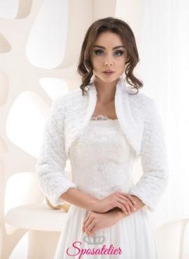 Pelliccia ecologica sposa vendita online  matrimonio invernale collezione 2019