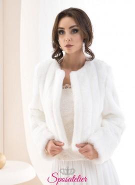 Pelliccia sposa invernale elegante vendita online collezione 2019