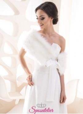 Coprispalle pelliccia sposa vendita online  matrimonio invernale collezione 2019
