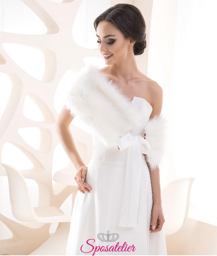 modellazione duratura vendita online vendita outlet Coprispalle pelliccia sposa vendita online matrimonio invernale collezione  2019