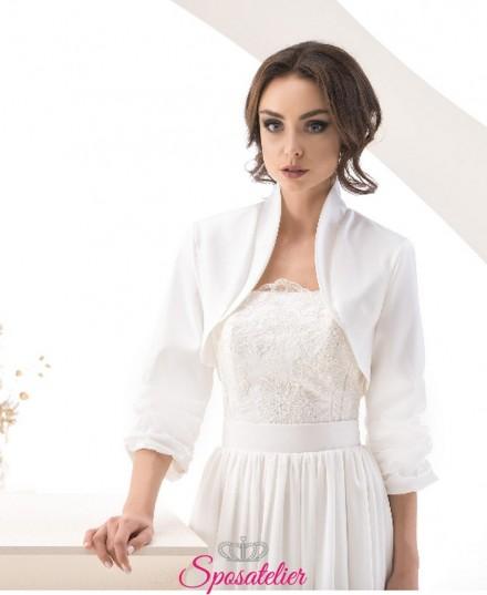 Coprispalle sposa in tafta vendinta online economico collezione 2019