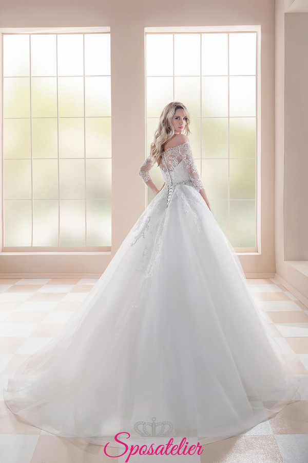 Matrimonio Civile In Spiaggia : Abiti da sposa principessa con gonna di tulle