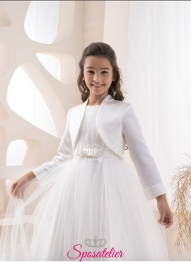 bolero bambina cerimonia colore bianco o avorio economico online