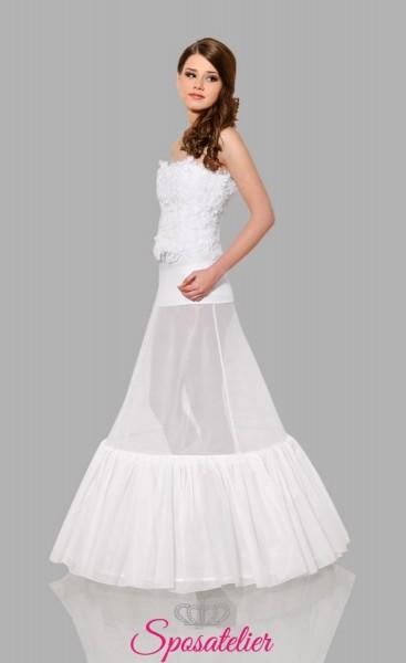 Sottogonna sposa online con due cerchi e balza con elastico in vita economico