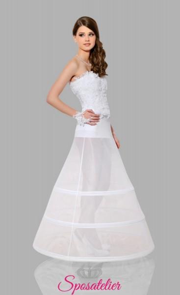 Sottogonna sposa per abiti a line online tre cerchi