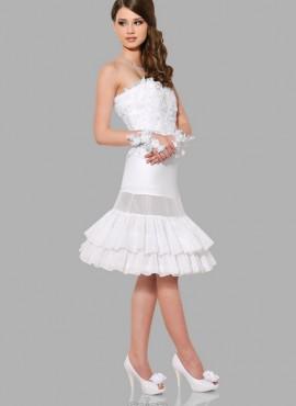 Sottogonna sposa per abiti corti con due cerchi e due balze