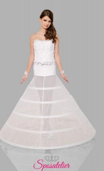 Sottogonna sposa con cinque cerchi online per abiti da principessa