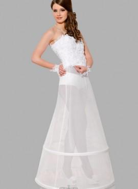 Sottogonna sposa online con due cerchi circonferenza 220 cm