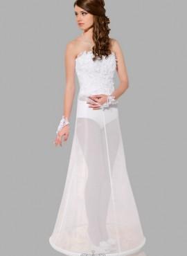 Sottogonna sposa online conun cerchio circonferenza 190 cm con chiusura in velcro
