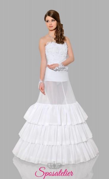 Sottogonna sposa per abiti principessa online con tre cerchi ampio