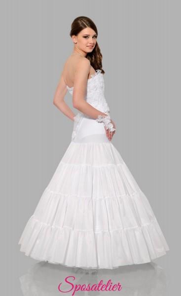 Sottogonna sposa per abiti ampi online con tre cerchi