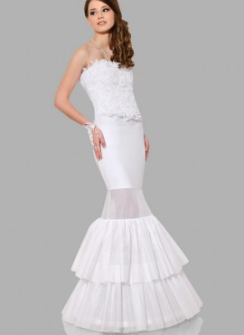 Sottogonna sposa un cerchio per abiti a sirena online