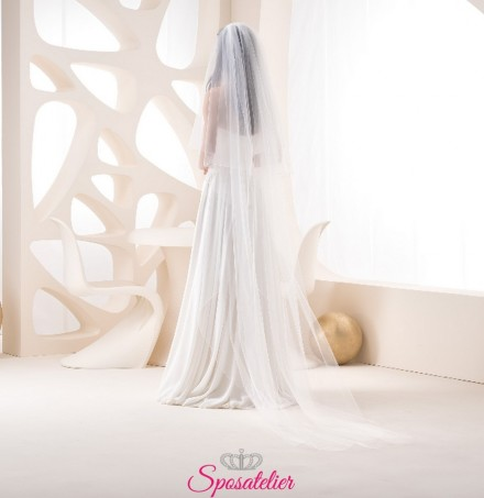 velo sposa on line lungo 3 metri semplice in tulle