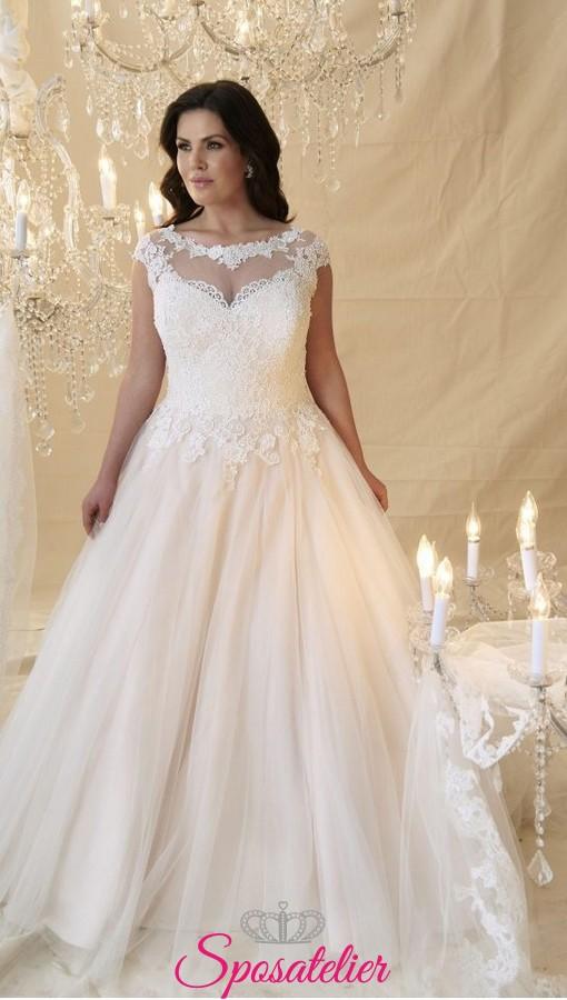 Vestiti Da Sposa Taglia 46.Abiti Da Sposa Taglie Comode Collezione 2019 Onlinesposatelier