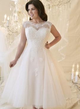 abiti da sposa economici corti per taglie comode collezione 2019