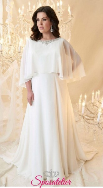 abiti da sposa taglie forti con mantellina collezione 2019