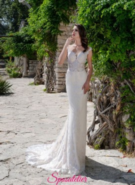 abiti da sposa a sirena sensuale in pizzo 2019