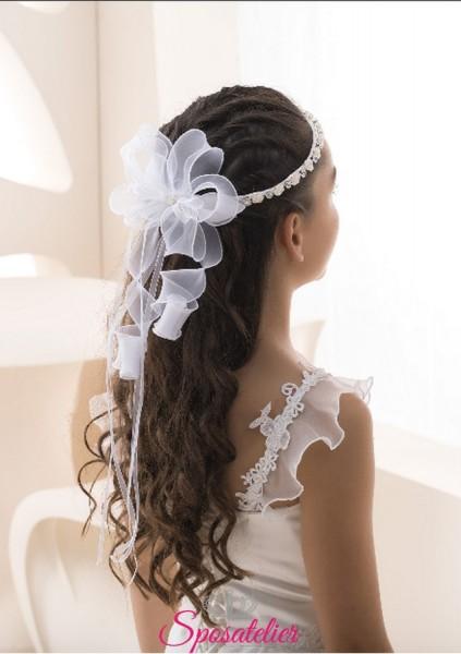 coroncine per capelli prima comunione con punti luce vendita online