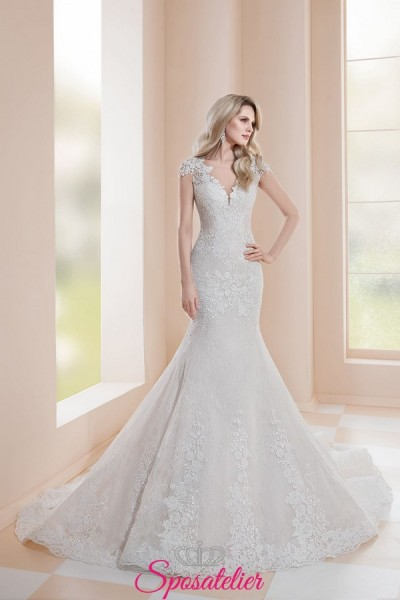 abiti da sposa a sirena in pizzo nuova collezione 2019