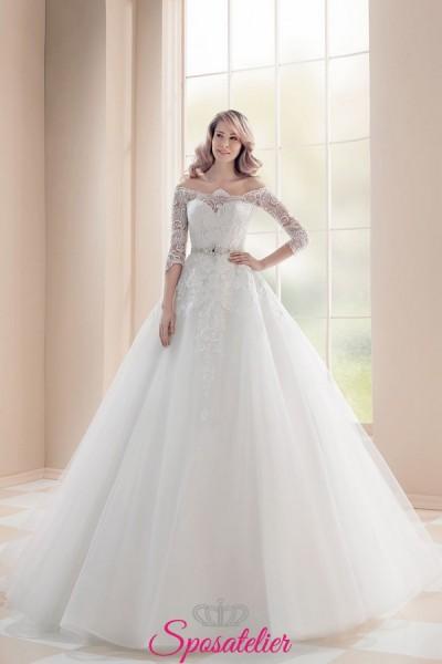 abiti da sposa 2019 particolari da principessa con gonna vaporosa