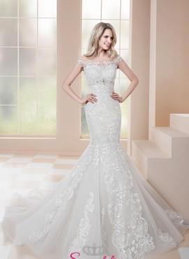 abiti da sposa a sirena in pizzo con scollo a barchetta 2019