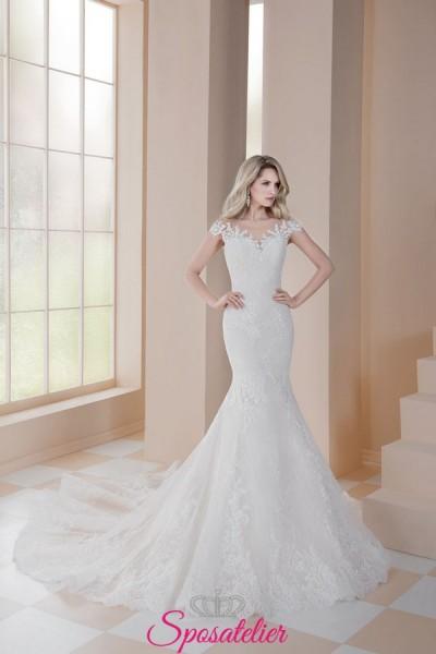 abiti da sposa a sirena in pizzo con strascico 2019