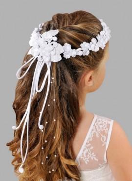 coroncine per acconciatura capelli prima comunione vendita online con fiocco