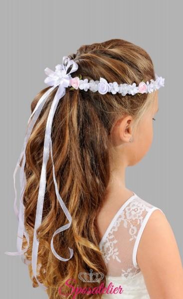 coroncine per capelli prima comunione vendita online con fiocco (Copy)