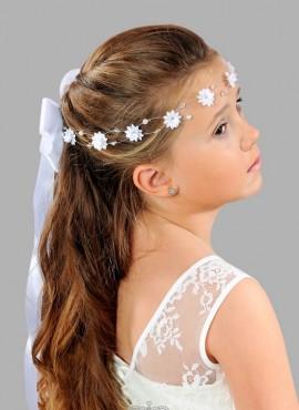 coroncine per capelli prima comunione con fiori e perline vendita online