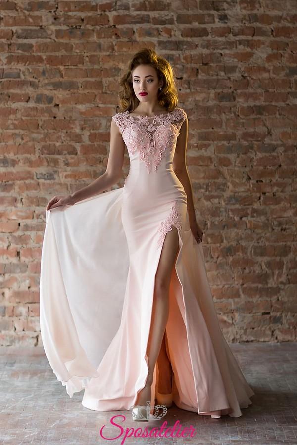 promo code f711e 443d9 abiti da damigella lunghi economici colorati elegante con spacco