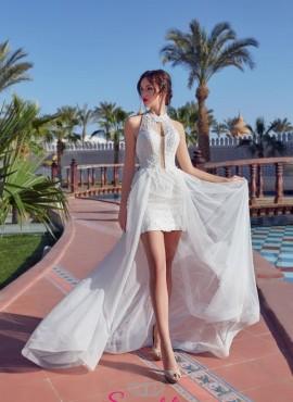 abito da sposa corti con gonna lunga particolari 2019