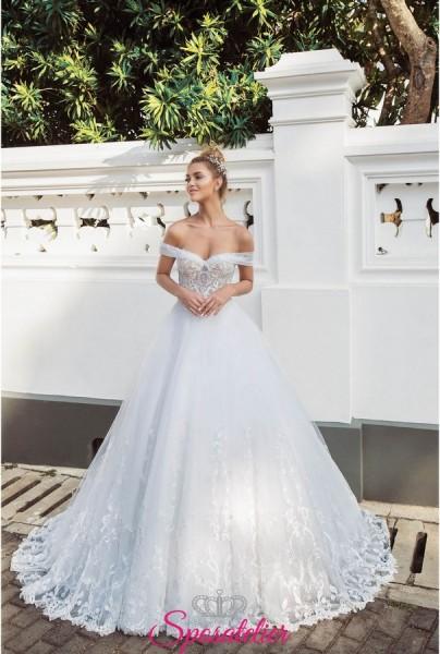 abiti da sposa da principessa con scollatura ampia online collezione 2019
