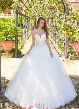 abiti da sposa 2019 con corpetto ricmaato a mano con perline