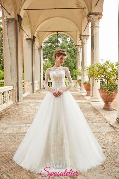 abiti da sposa girocollo collezione 2019 anteprima online