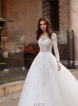 abiti da sposa 2019 con maniche lunghe di pizzo vendita online prezzi economici