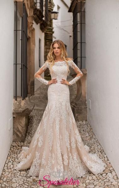 abiti da sposa 2019 con gonna svasata vendita online prezzi economici