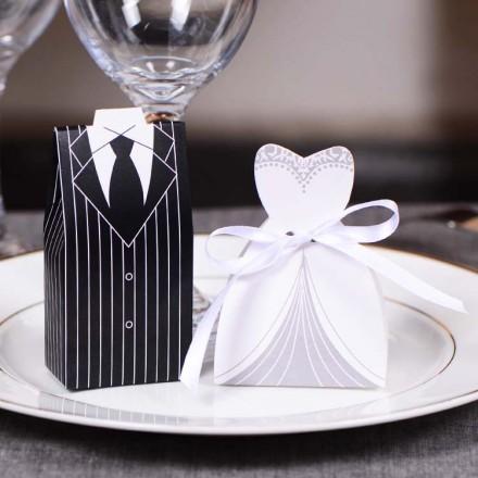 Bomboniere matrimonio sposo e sposa 100 pezzi