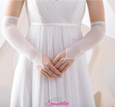 guanti da sposa lunghi semplici collezione 2019