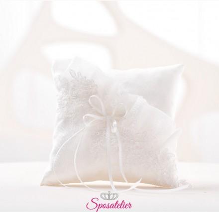 cuscino portafedi ricamato in pizzo economico vendita online bianco o avorio
